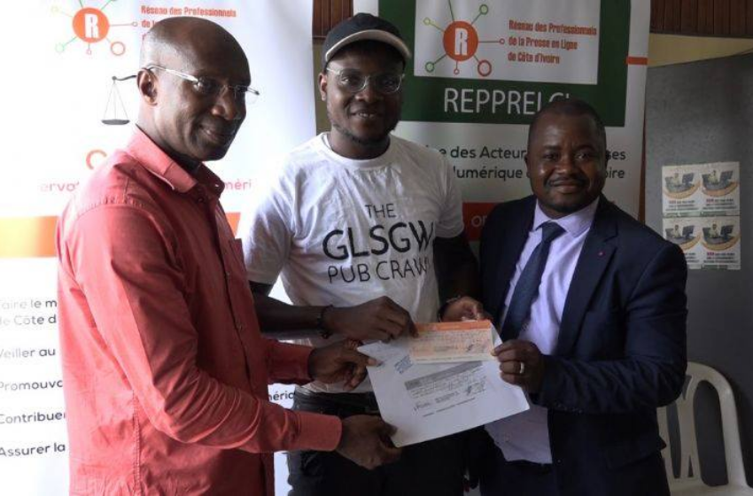 Presse numérique ivoirienne: le REPPRELCI remet des chèques à 22 entreprises bénéficiaires du fonds exceptionnel Covid-19