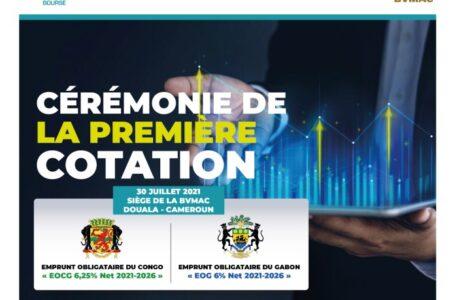 BVMAC: cérémonie de première cotation des valeurs «EOCG 6,25% NET 2021-2026» et «EOG 6% NET 2021-2026»
